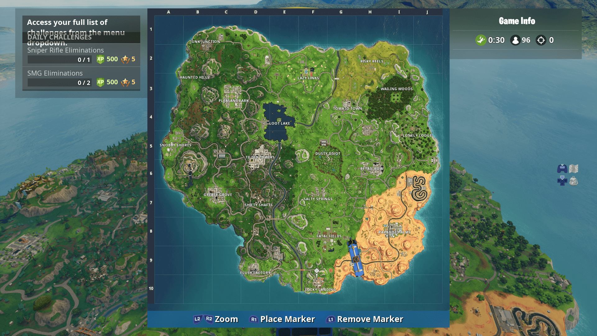 Fortnite Named Locations Visit The Center Of Named Locations In A Single Match USgamer