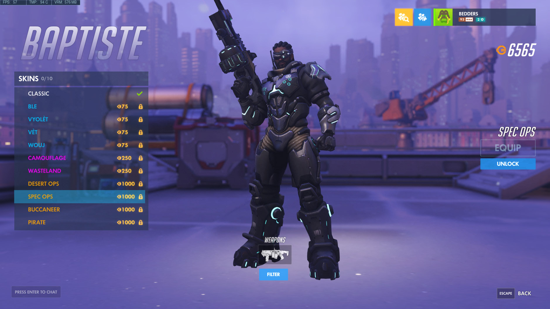 Overwatch Baptiste Legendary Skins Highlight Intros Victory Poses And Emotes Metabomb