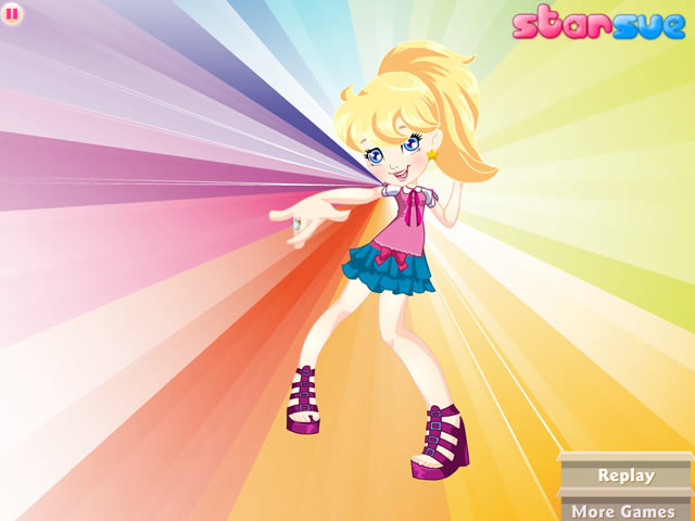 Polly Pocket Fabulous Fashion Dress Up Girls Games