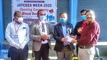 पोखरा जेसिजको रक्तदान ४८ युनिट रगत संकलन