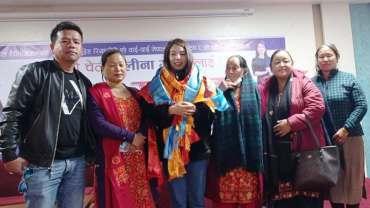 नेपाल स्टारको टप ८ मा प्रवेश गर्न सफल एलिना गुरुङलाई पोखरामा स्वागत