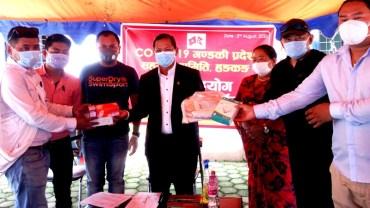 गण्डकी प्रदेश सहयोग समिति हङकङद्वारा प्रदेश सरकारलाई १३ लाख ५ हजारको स्वास्थ्य सामग्री सहयोग