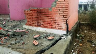 पोखराको सेती नदि किनारमा धाँजा फाँट्यो, २ घर भत्कियो