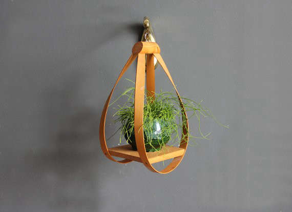 Modern Bentwood Hanging Plant Stand