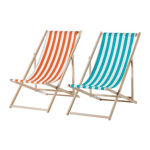 deck chair images leather dinning chairs 10 easy pieces folding gardenista above a mysingo beach with beechwood frame and washable fabric sling available in assorted colors is 24 99 from ikea