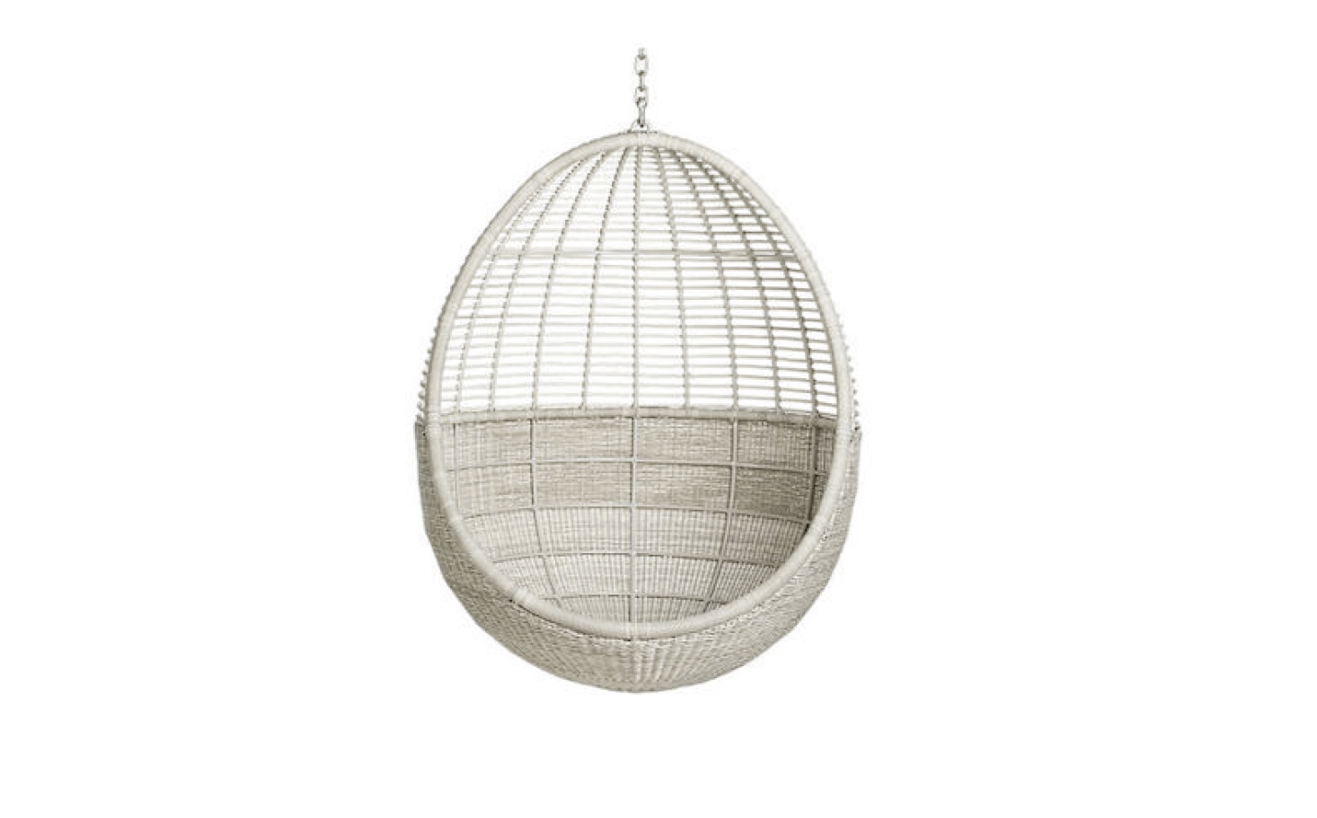 Egg Chairs That Hang From The Ceiling 10 Easy Pieces Rattan Hanging Chairs Gardenista