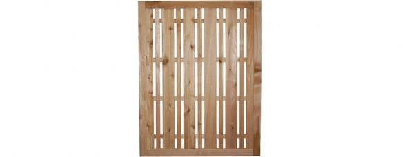 Western Red Cedar Horizontal Lattice Fence Panel | Cedar Handrail Home Depot | Railing Systems | Handrail Kit | Cedar Tone | Deck Stair Railing Kit | Aluminum Balusters
