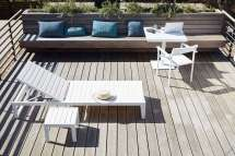 Easy Pieces Modern White Outdoor Chaise Lounges