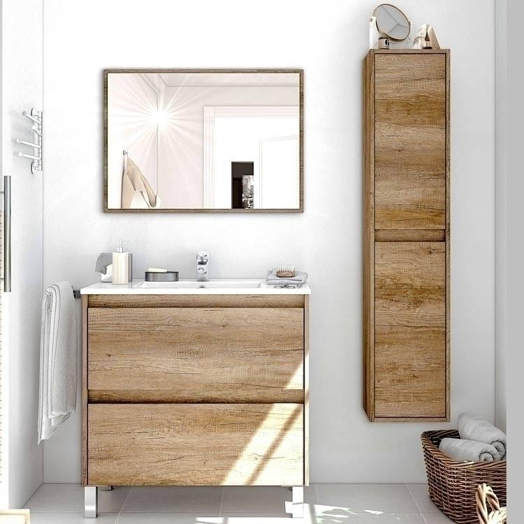 Scegli mobili per il bagno facilmente coordinabili di diverse dimensioni. Mobile Bagno Eveline Nordik A Terra Lavabo Specchio