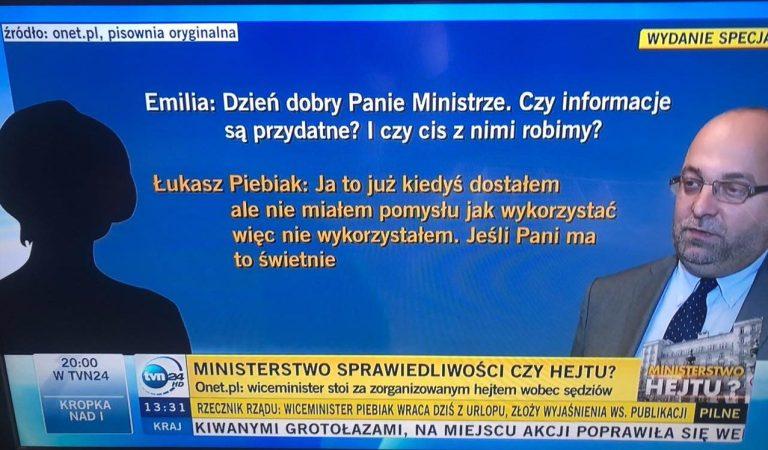 Afera #EmiGate – SCREENY z rozmów ministra Piebiaka oraz inne wypowiedzi Emilii