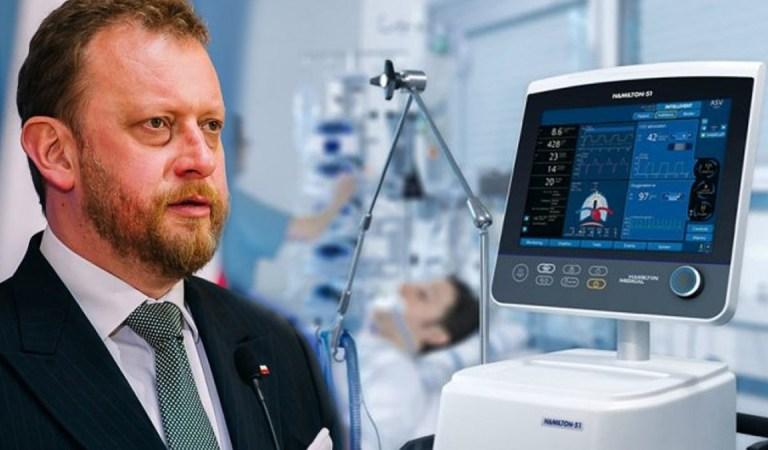 Szumowski mówi,że pierwsza partia respiratorów już przyszła. Producent: My wam nie sprzedaliśmy żadnego.