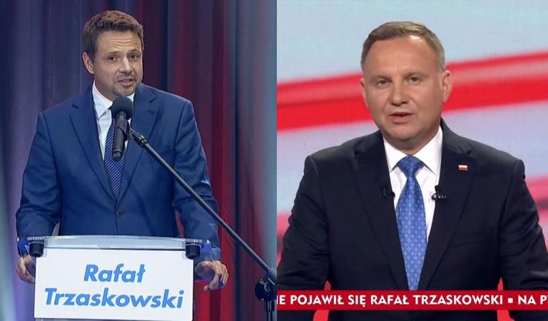 Andrzej Duda w Końskim przyciągnął więcej widzów niż Rafał Trzaskowski w Lesznie.
