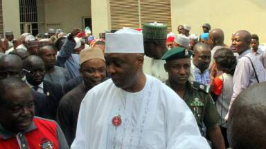 Senate President Bukola Saraki at the Code of Conduct Tribunal (CCT), PHOTO: LUCY LADIDI ELUKPO