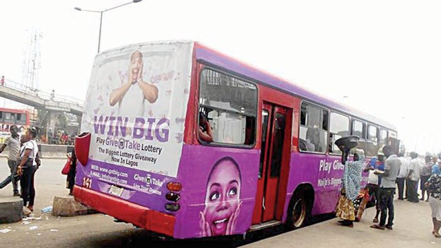 Image result for pictures of Give'n'Take Lottery advertisement on buses
