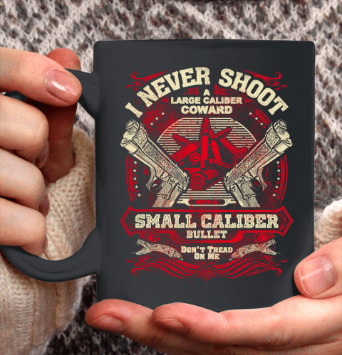 Veteran Shirt Gun Control I Never Shoot Ceramic Mug 11oz