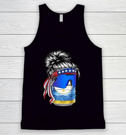 Beer Lover Funny Shirt Bun Girl Beer Art Tank Top