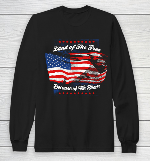 Veteran Shirt Land Of The Free Long Sleeve T-Shirt