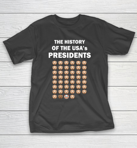 The History of The USA Presidents Emoji Style Anti Trump Updated with Biden T-Shirt