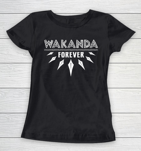 Wakanda Forever Black Panther Women's T-Shirt