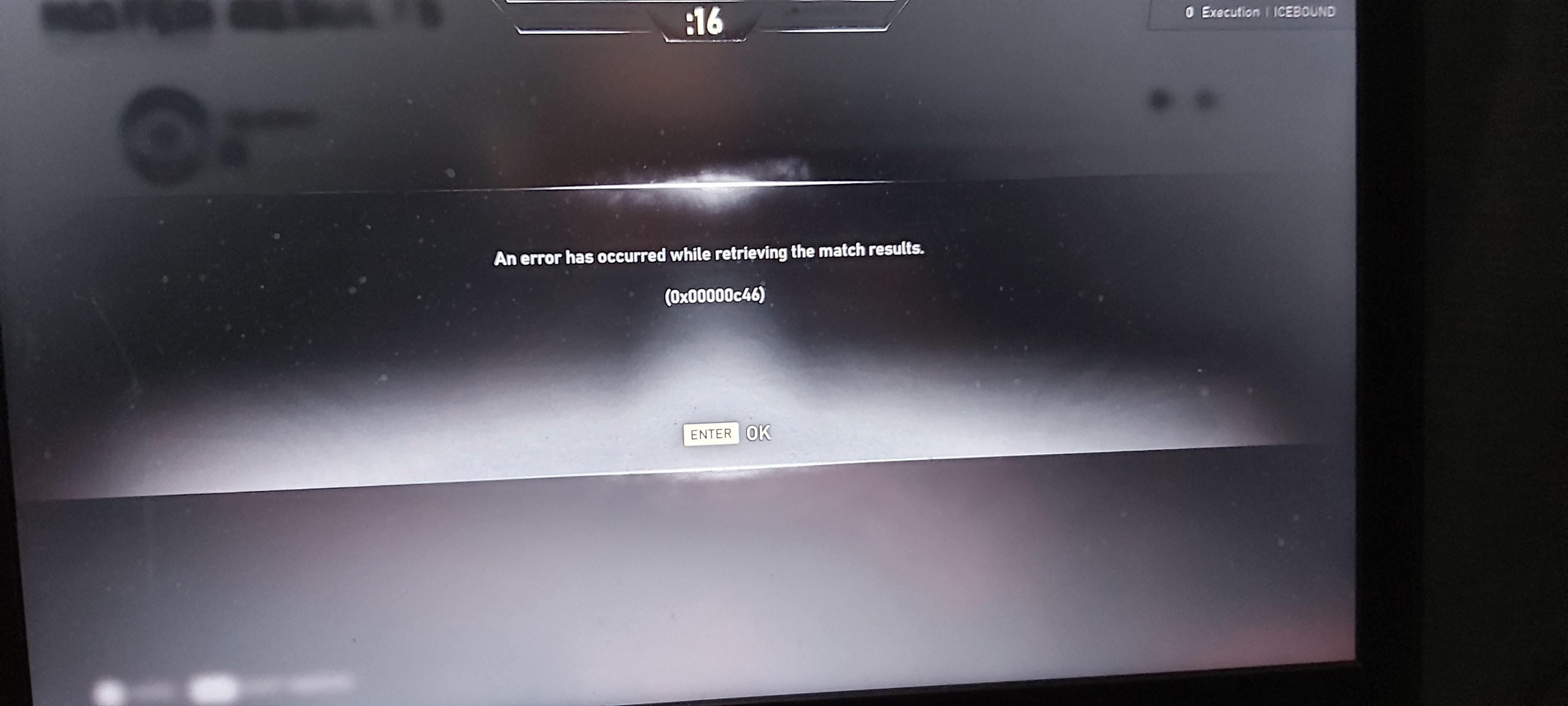 Error Retrieving Match Results