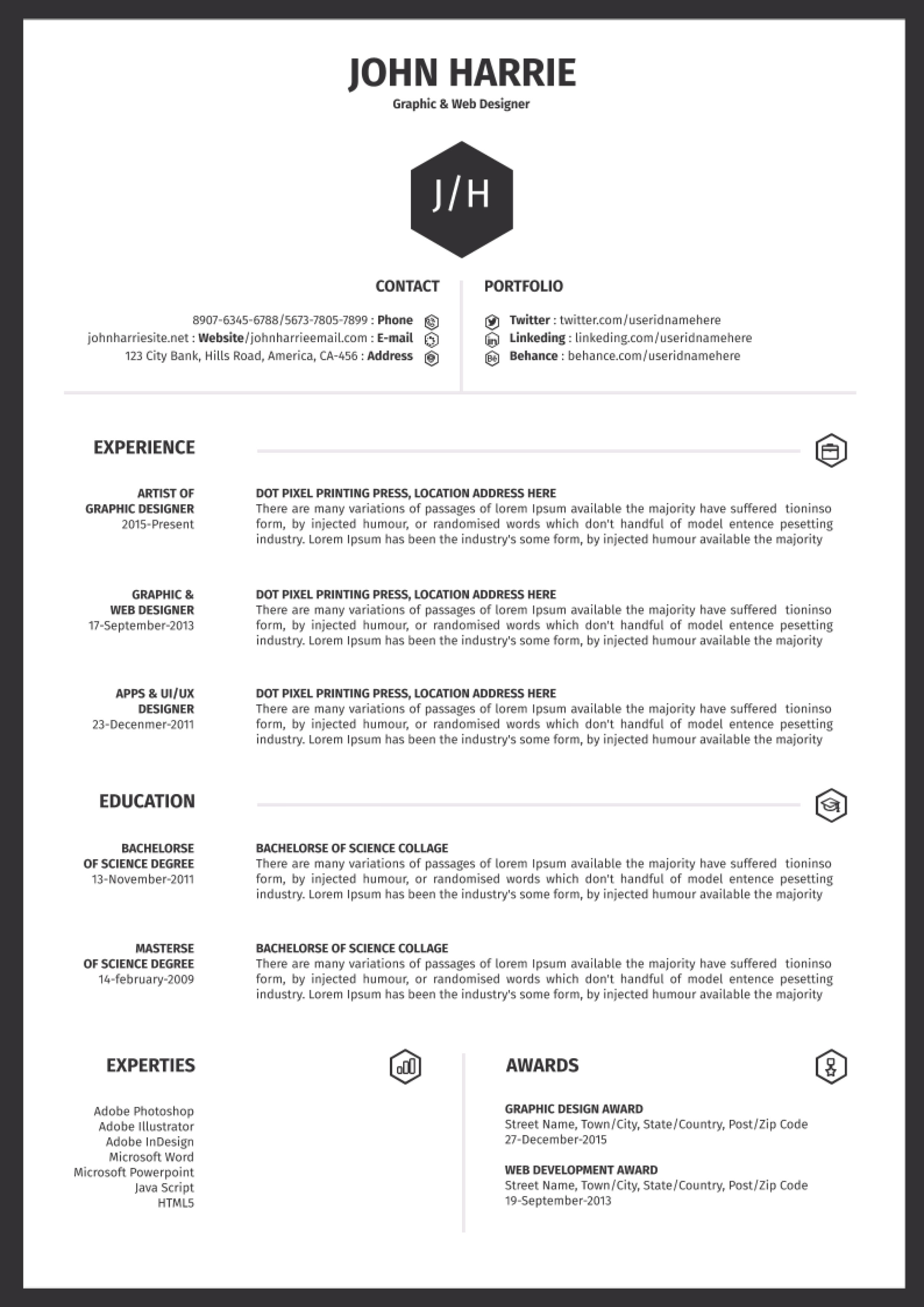 free resume template office