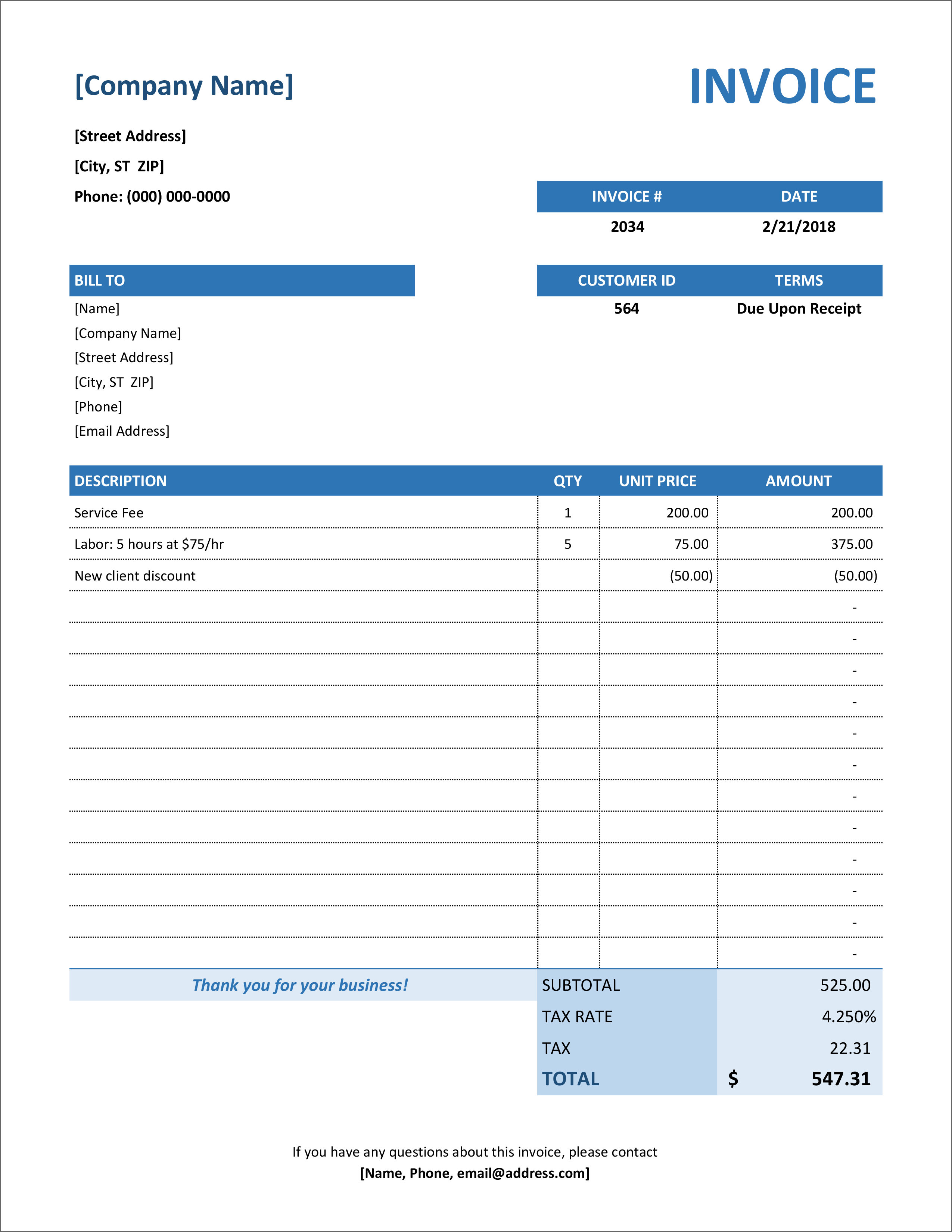 It can help to have a few reference points to set you in the right direction. 32 Free Invoice Templates In Microsoft Excel And Docx Formats