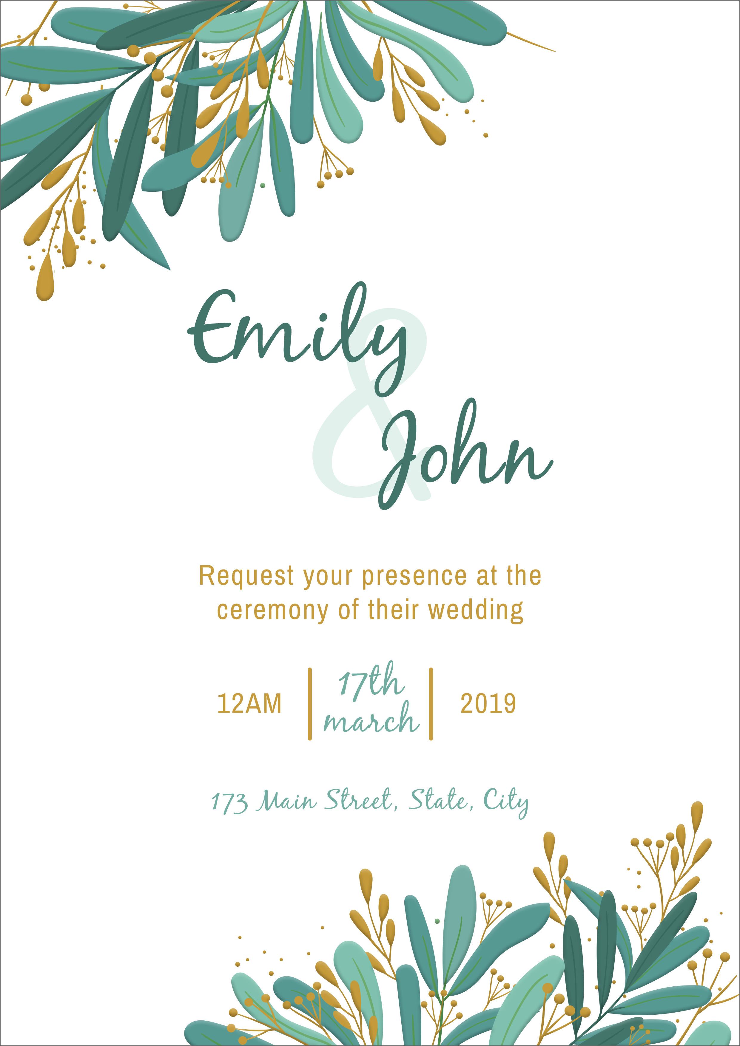 20 free wedding invitation template