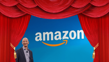 Amazon's warehouse robots serve as stagehands for CEO Jeff Bezos