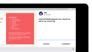 Google brings mobile commenting to Docs, Slides and Sheets, beefing up Office 365 competitor