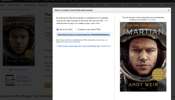 Embed a book? Amazon starts offering Kindle book previews for third-party sites and apps