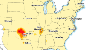 What the frack? Map shows where quakes triggered by humans are likely to happen
