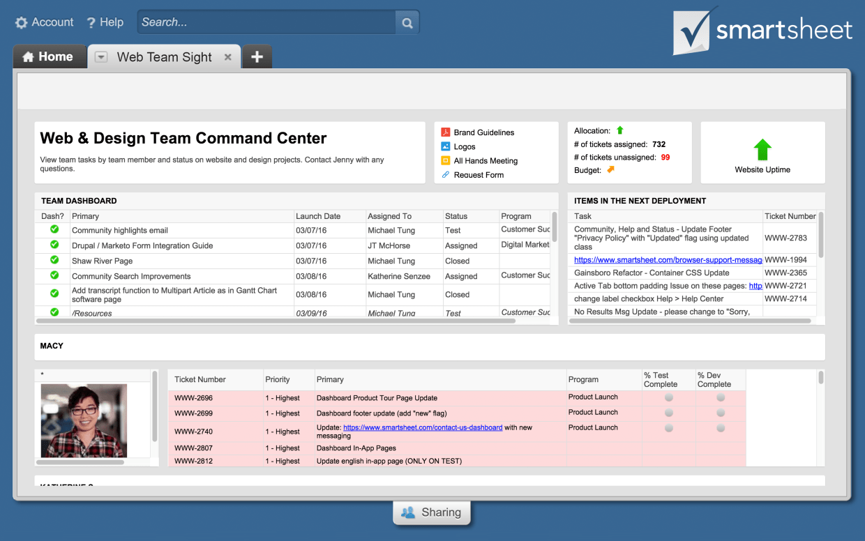 Smartsheet S New Sights Feature Promises A Clear Window