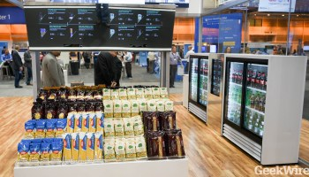 The supermarket of the future, driven by Kinect sensors, touchscreens & digital displays