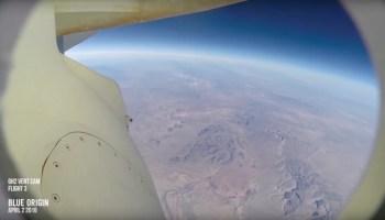 Blue Origin rocket cam view