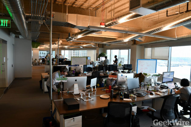 desk chair groupon nice covers inside s new seattle office waterfront views lots of green