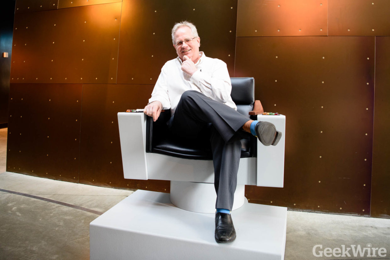 star trek captains chair revolving cuddle shows its agelessness in emp exhibit  geekwire