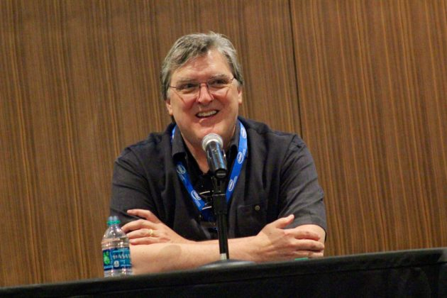 Highwire Games founder and ex-Bungie composer Marty O'Donnell speaks at Power of Play in Bellevue on Friday.