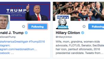 Trump Clinton Twitter