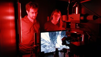 Jerome Lecoq and Kate Roll at Allen Brain Observatory