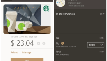 Starbucks app finally arrives for Windows 10 Mobile, initially without Mobile Order & Pay