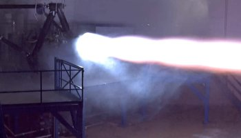 Raptor rocket engine firing