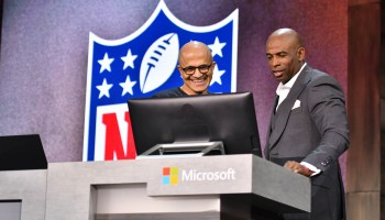 Photos: With help from NFL legend Deion Sanders, Microsoft unveils new fantasy football bot