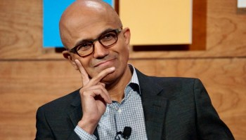 What happened after Satya Nadella told Microsoft's execs to 'find the rose petals in the field of sh*t'