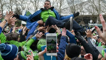 Photos: Seattle Sounders fans celebrate team's first MLS Cup victory with march and rally