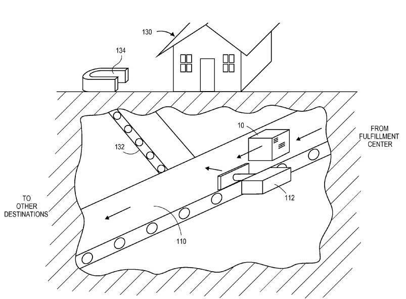 Amazon wins patent for subterranean package delivery
