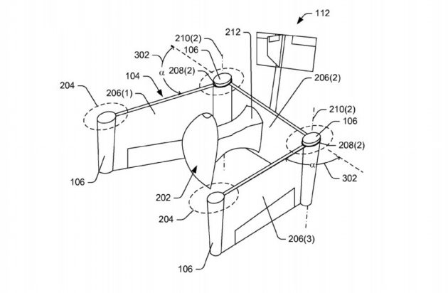 Amazon's latest drone patent features foldable wings for