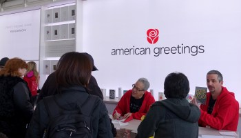 The 'Device Like No Other' American Greetings showed off at CES was, you guessed it, a card