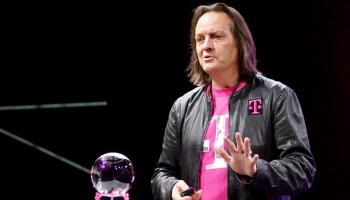 T-Mobile CEO scolds Sprint CEO for laughing at Chelsea Handler's Twitter joke about car crashing into T-Mobile store