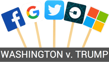 New court filing: Google, Uber, Microsoft and nearly 100 others back Washington state case vs. Trump