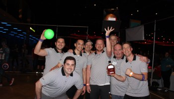 There's no avoiding it: Intense dodgeball tourney is a hit at the GeekWire Bash